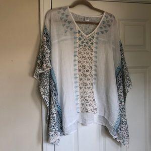 Caftan style blouse